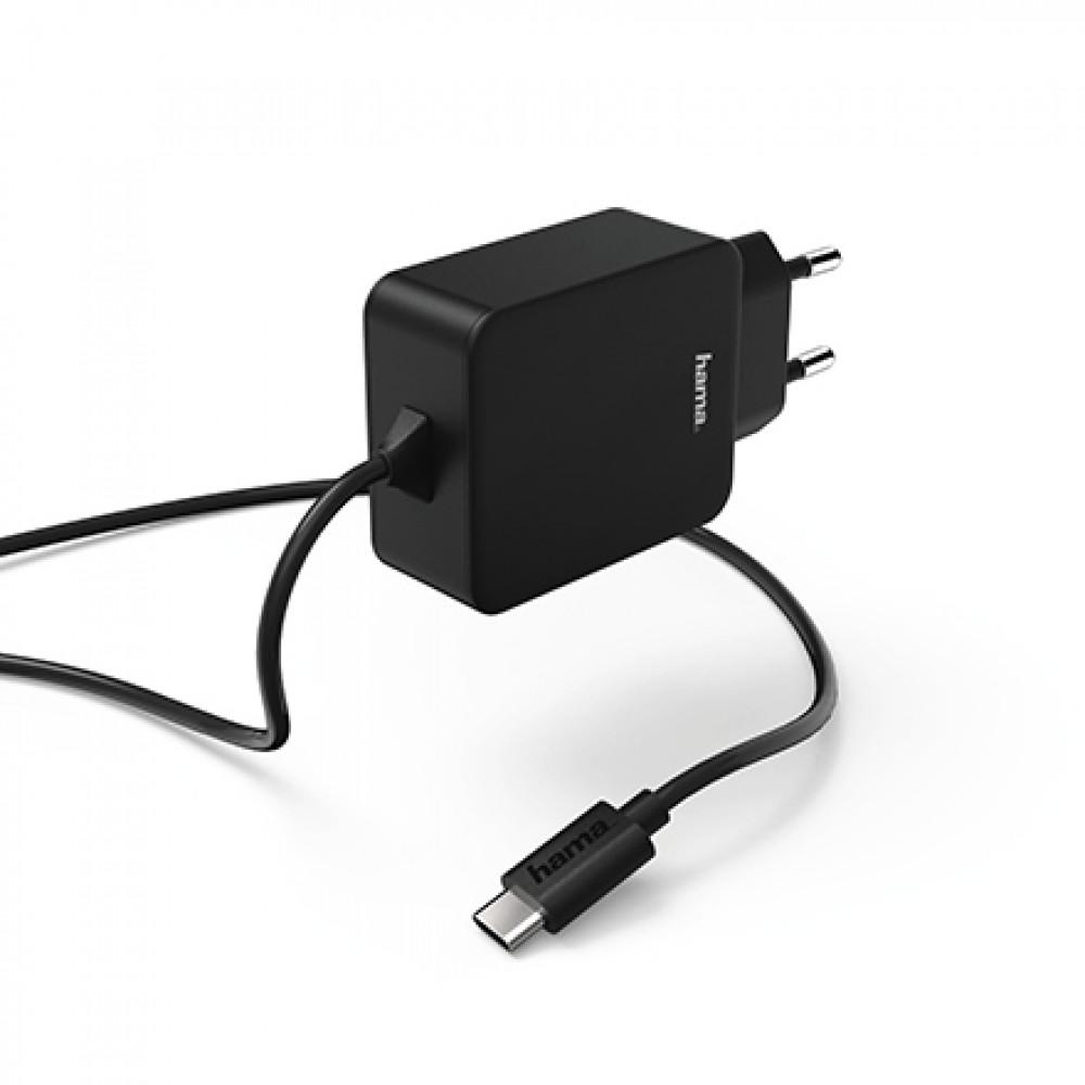 HAMA kućni punjač USB Tip-C, 3A CRNI 178277
