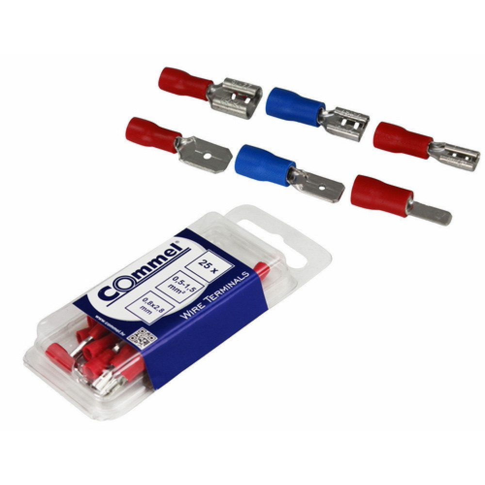 COMMEL natikač za žicu 0.5-1.5mm2, 0.8x2.8mm C365-821