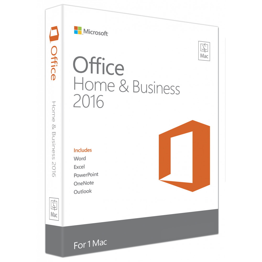 MICROSOFT office Mac Home & Business 2016 1PK Medialess (Engleska verzija) - W6F-00855