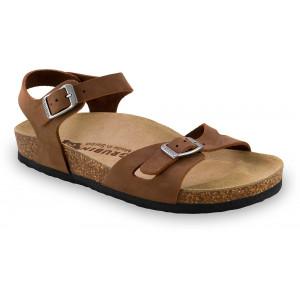 GRUBIN ženske papuče 0113510 RIO Braon
