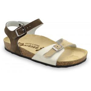 GRUBIN ženske papuče 0113510 RIO Braon drap