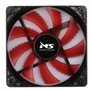 MS led ventilator za kućište 12CM crvena