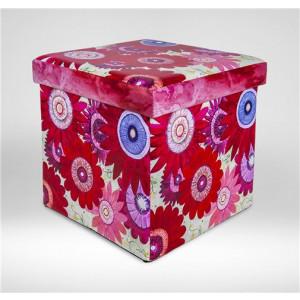 CHILDREAM tabure kutija crveni cvetovi