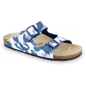 GRUBIN muške papuče 0234040 KAIRO Maskirna plava