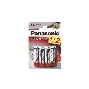 PANASONIC baterije LR6EPS/6BP -AA 6kom alkaline Everyday power