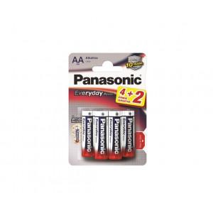 PANASONIC baterije LR6EPS/6BP -AA 6kom alkaline Everyday power
