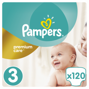 PAMPERS PREMIUM MB 3 MIDI (120) + BOX 4015400465461 ***N