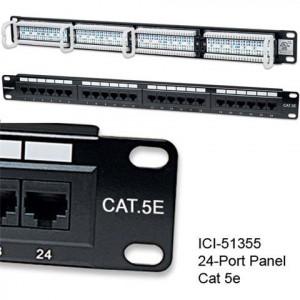 "INTELLINET prespojni UTP panel Cat.5e 24-portni 1U 19"" crni"