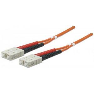 INTELLINET lan patch kabl FO DP MM SC/SC 50/125 OM2 2m Oranž