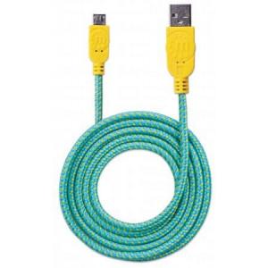 INTELLINET kabl USB 2.0 Tip-A Muški/Micro-B Muški, 1.8m, tirk/žuta