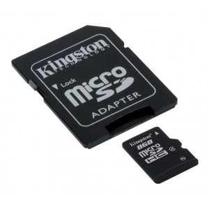 KINGSTON MICRO SD 8GB + SD adapter SDC4/8GB