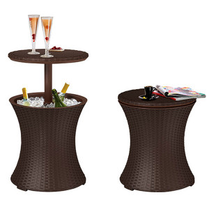 Barski sto sa kutijom za led braon CU 230902