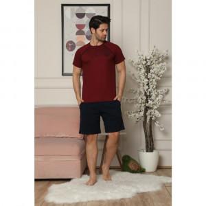 Pidžama muska 6185-1 Bordo 2XL*2