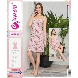 Spavaćica ženska roza cvetovi 4055-10 L ***K