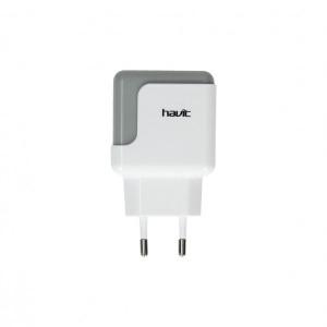 HAVIT punjac za telefon, 2x USB, 2.1A Bela