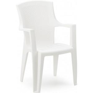 Baštenska stolica plastična EDEN bela 030767