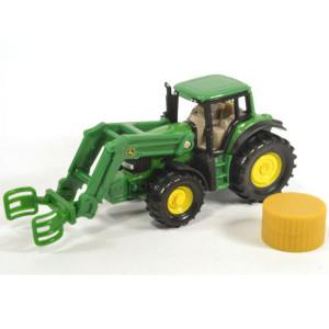 SCHLEICH dečija igračka traktor sa hvataljkom za bale 1379