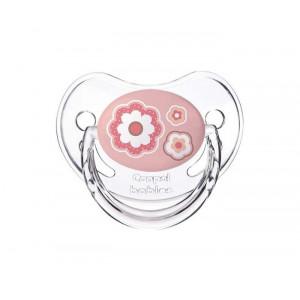 CANPOL ORTHODONTIC BABY silikonska varalica0-6M 22/565_pin 1kom - FLOWERS