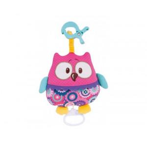 """CANPOL muzička igračka """"Forest Friends"""" -pink owl 68/048_pin"""