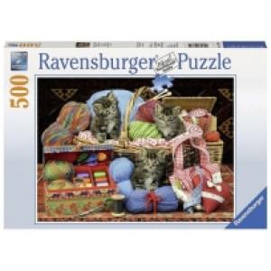 Ravensburger puzzle (slagalice) - Macici u korpi RA14785