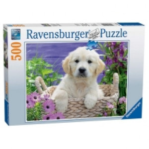 Ravensburger puzzle (slagalice) - Kuce u korpi RA14829