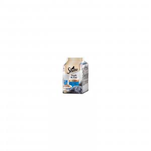 SHEBA hrana za mačku, kesice, izbor mesa 6x50g 520260