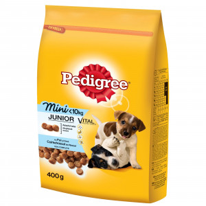 PEDIGREE hrana za pse, briketi, Junior Mini 400g 520267