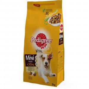 PEDIGREE hrana za pse, briketi, mini, piletina i povrće 2kg 520266