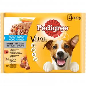 PEDIGREE hrana za pse adult, piletina i govedina 4x100g 520029