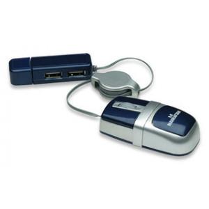 MANHATTAN Mouse MM5 Optical Nano USB 2-Port 177559