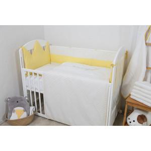 Bebi posteljina Krunica žuta 1900