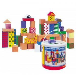 WOODY drvene kocke u kutiji sa sortirajućim poklopcem 90906