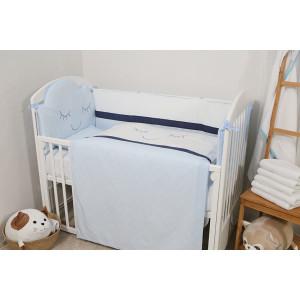 Bebi posteljina Krunica 1900 plava