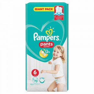 PAMPERS PANTS GP 6 LARGE (50)