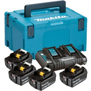 MAKITA SET u koferu Makpac 3, BL1850Bx4 kom, DC18RD 197626-8