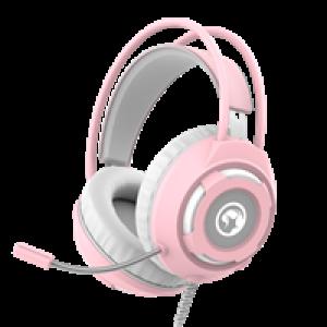 Slušalice Marvo HG8936 gejmerske sa mikrofonom,boja pozadinskog osvetljenja bela, roze 006-0515