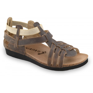 GRUBIN ženske sandale 2433610 ANASTASIJA Tamno Braon