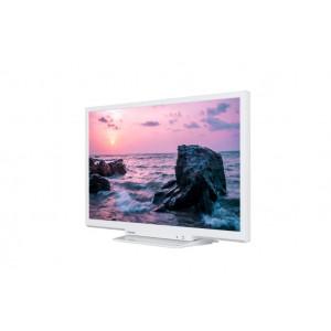 "TOSHIBA televizor led 24"" hd ready, dvb-t2, white, one pole stand 24w1764dg"
