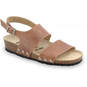 GRUBIN ženske sandale 2623610 CHARLOTTE Svetlo Braon