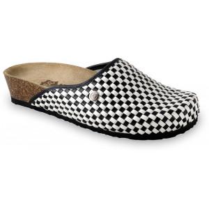 GRUBIN ženske papuče 2703640 DOMINO Crno-bele1