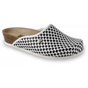 GRUBIN ženske papuče 2703640 DOMINO Crno-bele2