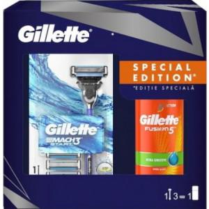 GILLETTE POKLON SET ( BRIJAČ + 3 ZAMENSKE GLAVE + GEL ZA BRIJANJE) 501626*8K