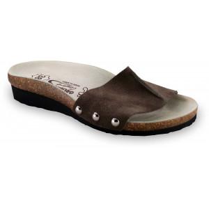 GRUBIN ženske papuče 2923650 ASMUND Braon