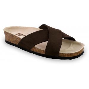 GRUBIN ženske papuče 2943610 QUITO Braon