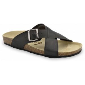 GRUBIN muške papuče 1084010-BORSALINO, Crne 40