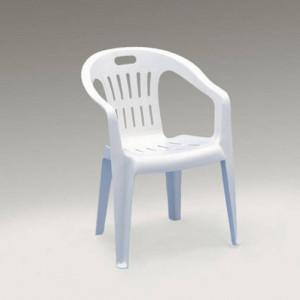 Baštenska stolica plastična Piona bela 029087