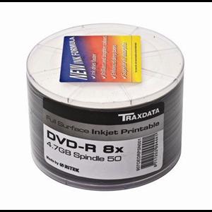 TRAXDATA DVD disk DVD-R 8X PRN F SP50 white
