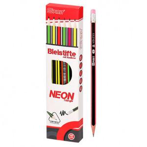 SPIRIT drvena olovka neon 3+ 12/1