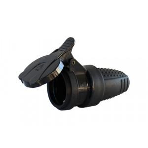 COMMEL natikac s kontaktom za uzemljenje 16A 250V gumeni C291-301