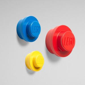 LEGO kuke za kačenje, 3 kom (žuta, plava i crvena)